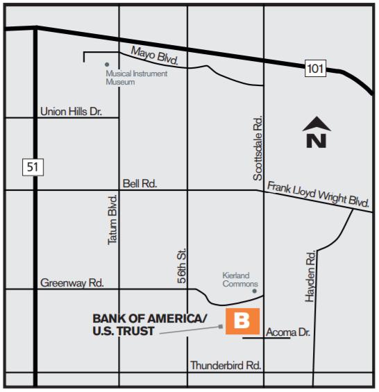 Bank of America/U.S. Trust Map