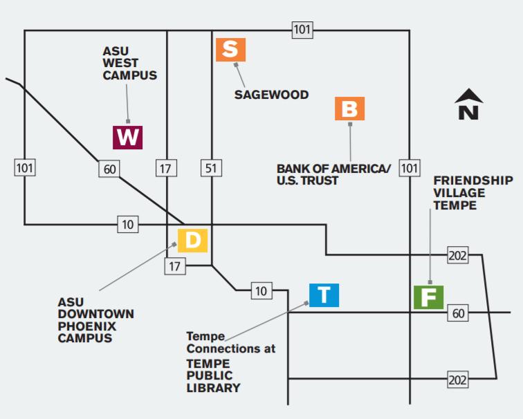 OLLI at ASU Map