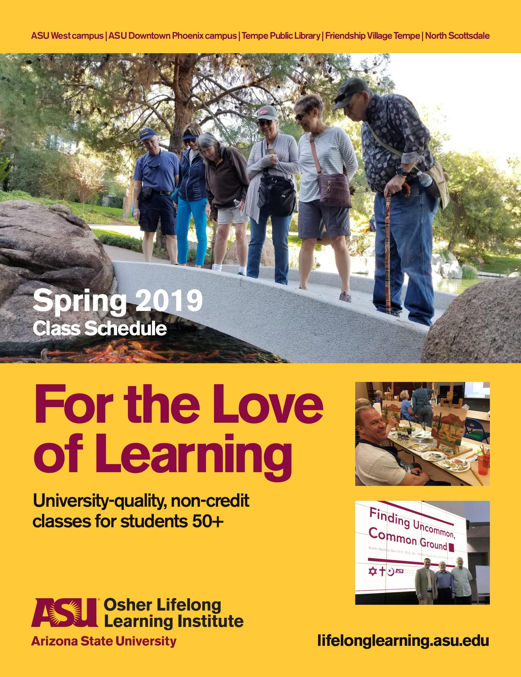 Spring 2019 Class Schedule
